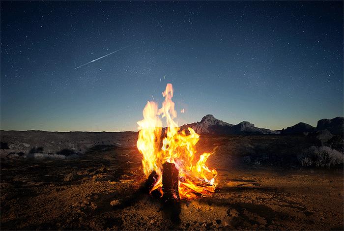 feu symbole chamanique