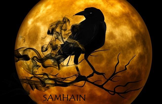 Corbeau chamanique fête de Samhain