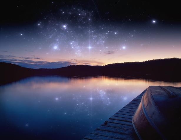 magnifique ciel étoilé inspiration chamanique