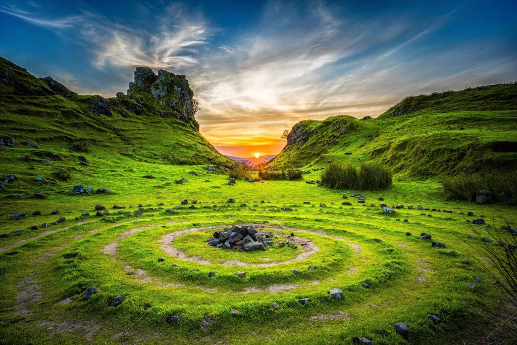 cercles de pierres chamanisme
