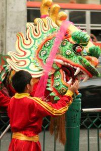 La tête du Dragon lors du défilé du nouvel an chinois